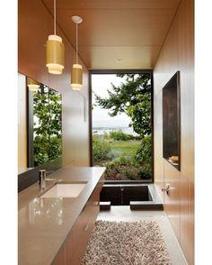 Ellis Residence by Coates Design Architects  #coatesdesignarchitects #seattle #bathroom #view #interior #interiors #interiordesign #design #architecture