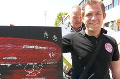 Happy fan, with a collection of autograph of his idols :-)