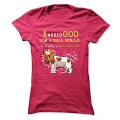 English Cocker Spaniel True Friend T Shirts, Hoodies, Sweatshirts. CHECK PRICE ==► https://www.sunfrog.com/Pets/English-Cocker-Spaniel--True-Friend-Shirt-HotPink-Ladies.html?41382