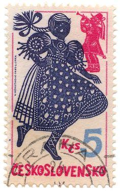 K Némečkóvá - Czechoslovakia (Czech Republic) 1980 Barbie Horse, Old Stamps, Going Postal, Mail Art, Stamp Collecting, Beautiful Patterns, Czech Republic, Postage Stamps, Card Making