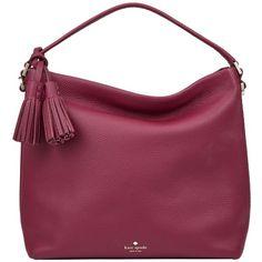 kate spade new york Orchard Street Small Natalya Leather Satchel ,... ($395) ❤ liked on Polyvore featuring bags, handbags, rioja, handbag purse, leather purses, leather handbags, leather satchel and kate spade purses