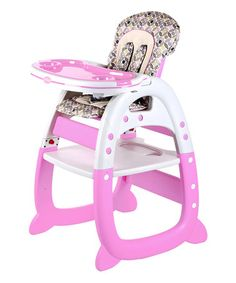 Pink 2 In 1 High Chair Desk