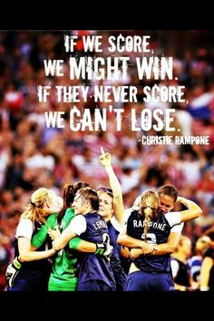 A huge part of playing soccer...especially defense! Love USWNT