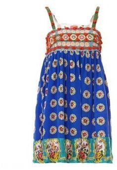 ShopStyle: Manoush Robe bleue