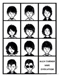 alex turner hair evolution