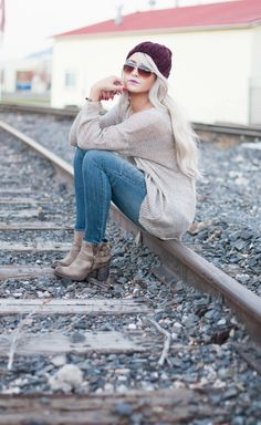 Oversized - CARA LOREN….Love her blog!!!! These boots (steve madden) and jeans (express)