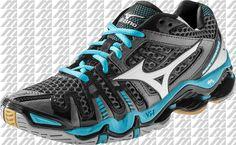 Mizuno Wave Tornado 8 Women's Volleyball Shoes - Gun Metal / Aquarius