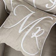 Mr. Pillow Flax/White 45x45 Riviera Maison