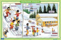 Caitheamh Aimsire - Ag Sciáil Primary Teaching, Primary School, Irish Language, Ireland, Posters, Activities, Education, Irish People, Elementary Schools