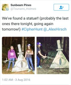 #CipherHunt I'm so proud of all the fans<Same, I want to visit it someday, will go look up where it is