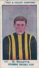 Charlie Ricketts Richmond Best and Fairest 1913