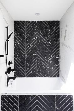 This Chevron Marble Bathroom Has to Be Seen to Be - Marble Bathroom Decor Mold In Bathroom, Bathroom Fixtures, Small Bathroom, Marble Bathrooms, Black Marble Bathroom, Boy Bathroom, Concrete Bathroom, White Bathrooms, Bathroom Showers