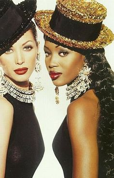 Remembering the 90's & it's Supermodels: Christy & Naomi.