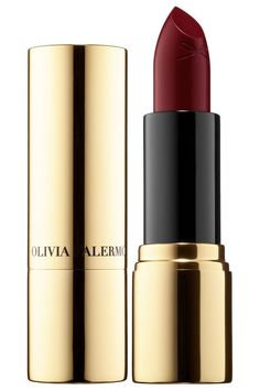 Ciaté London x Olivia Palermo Satin Kiss Lipstick in Velveteen. Find your perfect red on BAZAAR: