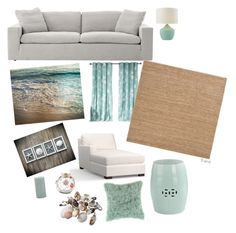 """""""Dream Beach House"""" by amd2008 on Polyvore featuring interior, interiors, interior design, home, home decor, interior decorating, Pottery Barn, Kensie, Pier 1 Imports and Surya"""
