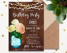 Adult Birthday Invitations Printable Garden Birthday Party