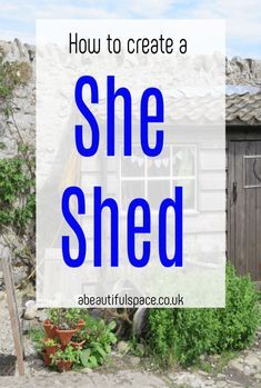 How to create a She Shed, tops tips for converting your gaden shed into a special place just for you Beautiful Space, Beautiful Gardens, Beautiful Homes, Shed Makeover, Small Sheds, Shed Kits, Amazing Transformations, She Sheds, Shed Storage