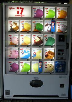 Ice cream vending machine Japan......so like, can we get one in America?