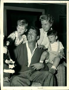 Dean Martin with his wife Jeanne and his 7 kids - early 70s - (after Dino, Desi and Billy had finished up). Description from pinterest.com. I searched for this on bing.com/images
