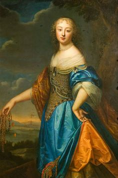 Portrait of Jeanne de Marigny, attributed to Charles (1604-92) and Henri Beaubrun (1603-77), Paris, about 1650-60, oil on canvas.