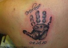 Baby Handprint Tattoos