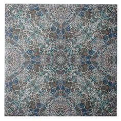 Moroccan noble romantic mandala pattern large square tile