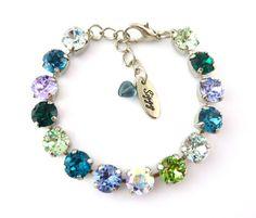 WINTER FROST 8mm Swarovski Crystal Bracelet Cool by SiggyJewelry