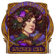 Commission: Oracle Healing by dimary on DeviantArt Character Sheet, Character Design, Punk Rock Girls, Art Nouveau Illustration, Blue Peonies, Goddess Art, Behance, Dark Elf, Line Art