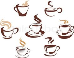 Vector of 'Coffee and tea cups'