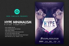HYPE MINIMALISM Flyer Template by @Graphicsauthor