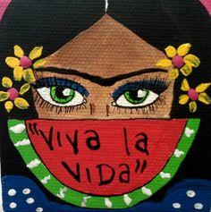 frida kahlo paintings Imagen de art, color, and frida kahlo Grafik Art, Mexican Paintings, Frida Art, Chicano Art, Chicano Tattoos, Diego Rivera, Mexican Folk Art, Diy Painting, Diy Art
