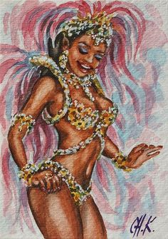 Samba dancer Poster by Christine Karron Samba, Carnival Dancers, Carnival Costumes, Black Women Art, Black Art, Art Caribéen, Dancer Drawing, Art Afro, Arte Black