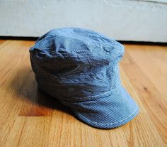 Indigo Stripe Canvas Work Cap