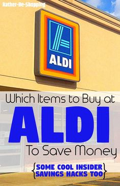 From the best items to buy at ALDI, to some cool insider ALDI shopping hacks, you're bound to save some extra money on your next grocery trip. Save Money On Groceries, Ways To Save Money, Money Tips, Money Saving Tips, Aldi Shopping, Shopping Hacks, Frugal Living Tips, Frugal Tips, Money Matters
