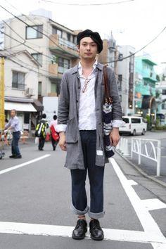 Japan sports stylish guy
