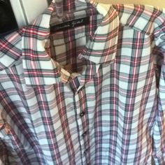 claudiagudel.ch Plaid Scarf, Shirts, Tops, Women, Fashion, Moda, Women's, Shell Tops, Fasion