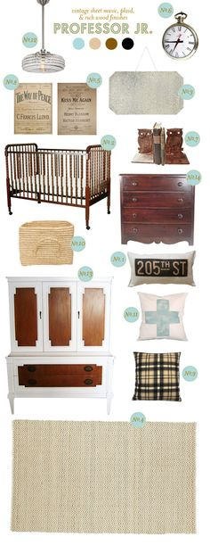 "Plan for a ""Professor Jr"" nursery, but this could easily become my living room... from laybabylay."