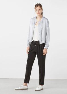 Flowy baggy trousers | MANGO