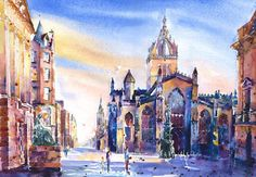 Jonathan Wheeler, watercolour artist based in Findhorn Scotland, specialising in Scottish castles and scenes including Edinburgh. Limited edition and signed edition prints for sale - commissions undertaken. Scottish Castles, Watercolor Print, Prints For Sale, Watercolours, Edinburgh, Artists, Painting, Artist, Painting Art