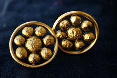 Vintage Yves Saint Laurent earrings clip on YSL gold by thekaliman, $175.00