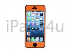 Carbon Skin iPhone 5 Oranje