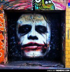 Insanely good Joker graffiti, Melbourne, Australia. Artist; Owen Dippie.