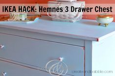 IKEA Hack: Hemnes 3-drawer chest #redo #dresser