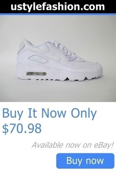 Children boys clothing shoes and accessories: Nike Air Max 90 Leather All White Gs Grade School Sz 6.5 833412-100 BUY IT NOW ONLY: $70.98 #ustylefashionChildrenboysclothingshoesandaccessories OR #ustylefashion