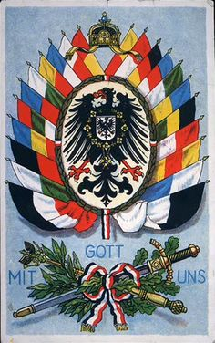 Gott Mit Uns, the flag of the German Empire, and all of the flags of the states of the German Empire.