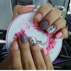 Love Nails, Pretty Nails, Cute Acrylic Nails, Nails On Fleek, Nail Arts, Short Nails, Pedicure, Nail Art Designs, Hair Beauty