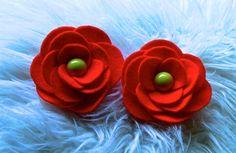 Flor em Feltro com Circulos Passo a Passo-Kanzashi Flower, Ribbon Rose,T...