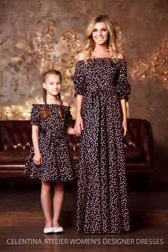mother daughter matching dress mom and by AugustVanDerWalz on Etsy