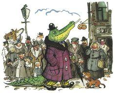 Сутеев В. #crocodile #illustration
