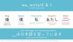 OLD PIN Myself & I Japanese words arghlblargh!